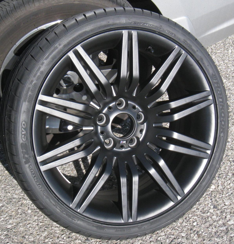 FS: 2008 550i OEM 172 Black Wheels/tires Set